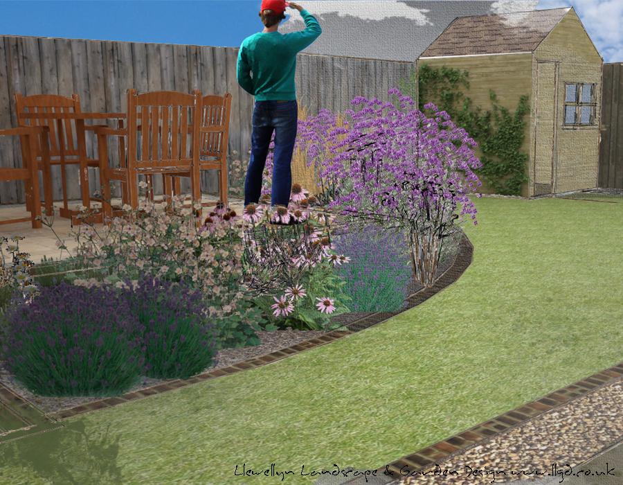 Mulbarton back garden llewellyn landscape garden design for Garden design back issues
