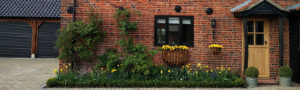 Click here for cool planting around a barn conversion